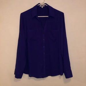 Purple Button Down Blouse